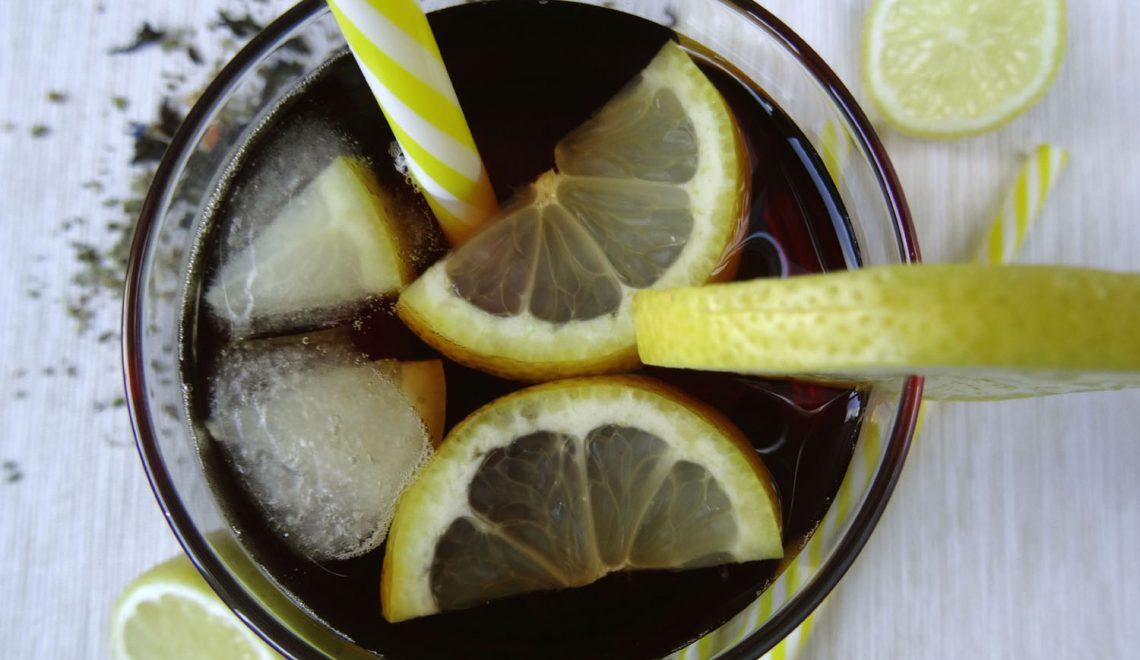 Cytrynowa mrożona herbata Pu-erh