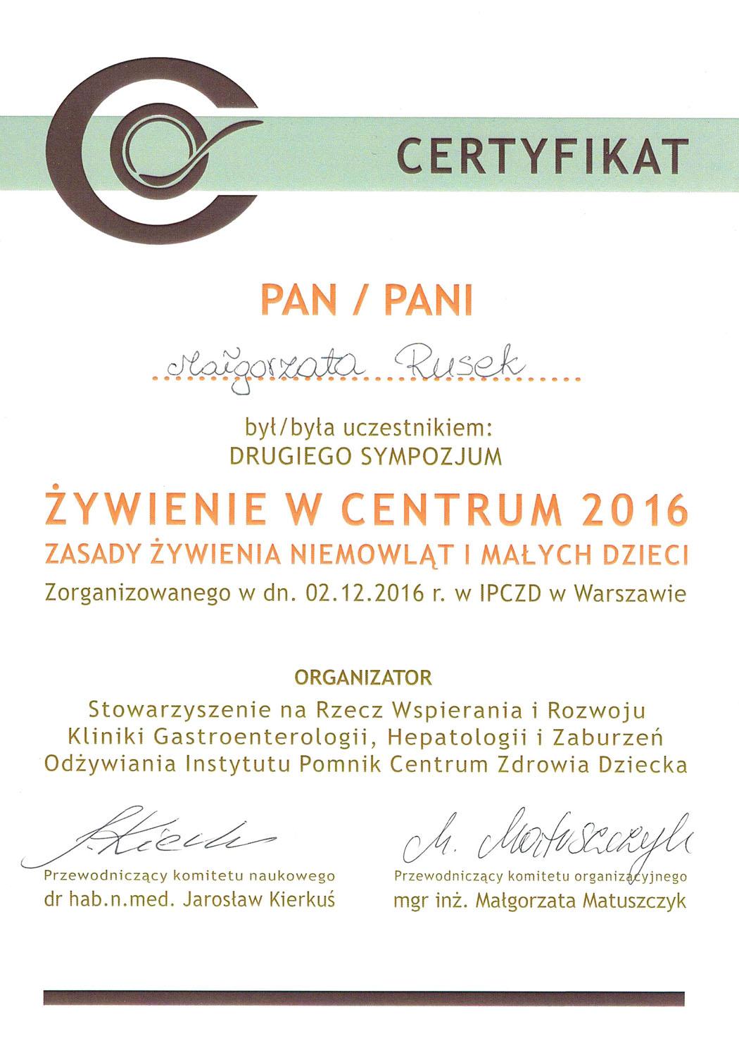 Żywienie wCentrum 2016 02.12.2016