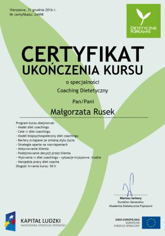 Coaching dietetyczny 12.2016