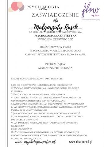 Psychologia dla dietetyka 04-06.2017