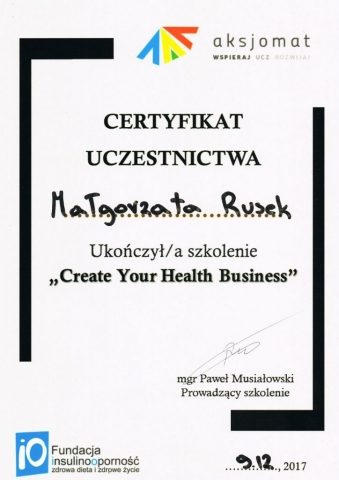 Create Your Health Business 09.12.2017