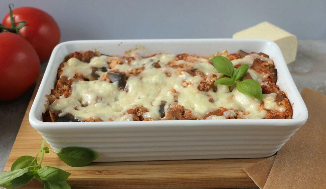 Lasagne z bakłażanem i tofu